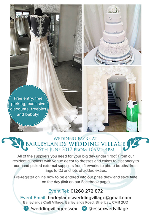 Barleylands Wedding Village Leaflet design