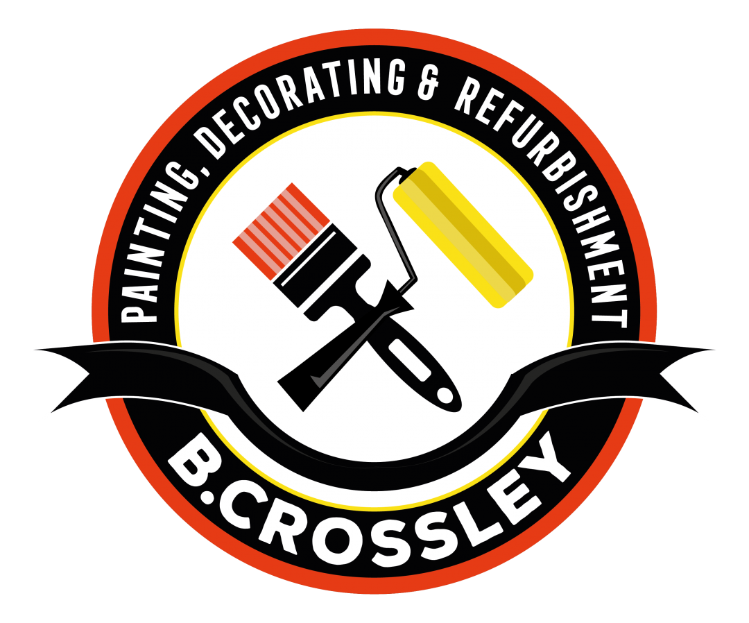 B Crossley Decorators logo design