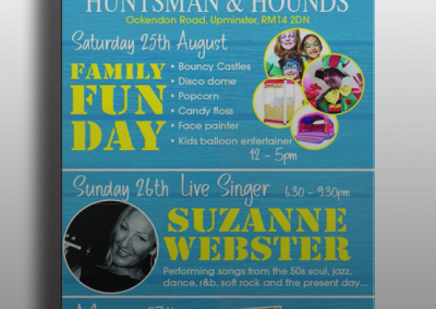 Huntsman & Hounds Leaflet Print Design